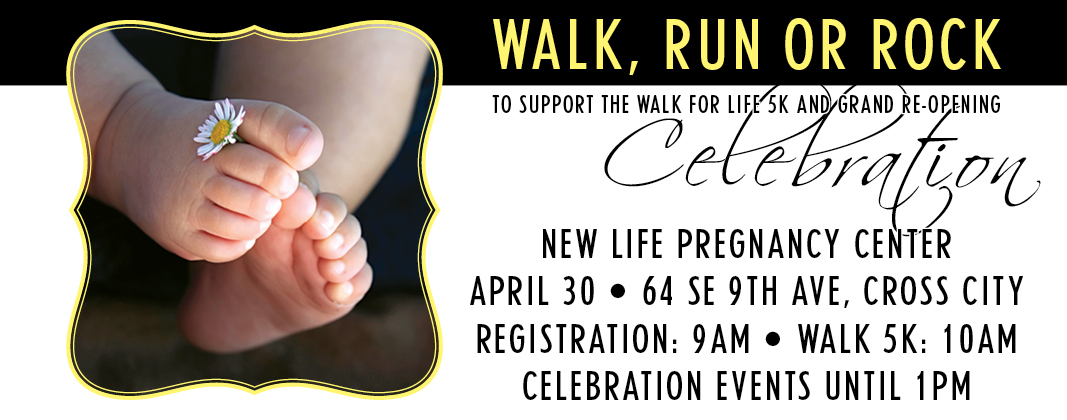 Walk for Life Sign Up form