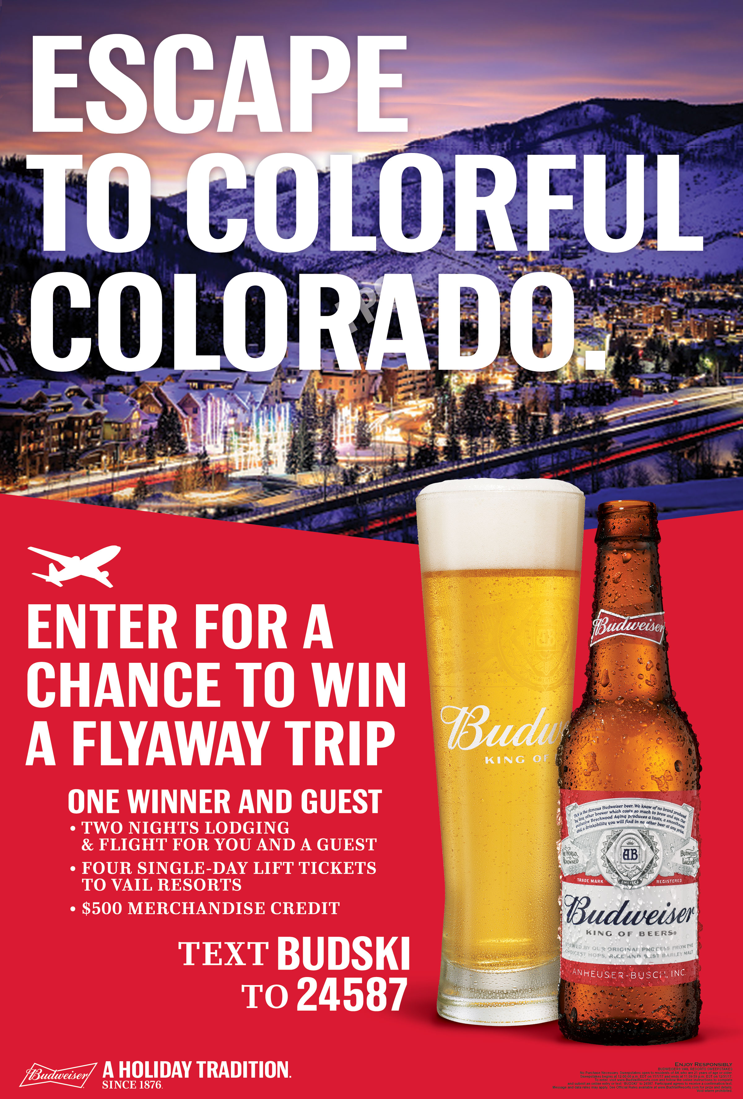 AGE GATE - BUDWEISER® VAIL RESORTS SWEEPSTAKES